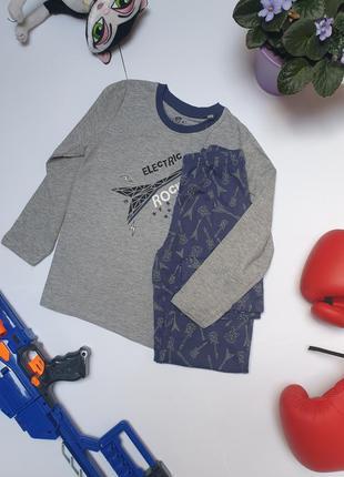 Бавовняна піжамка на хлопчика фірми lupilu 4-6 років