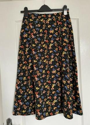Юбка миди в цветы primark с разрезом юбка с разрезом