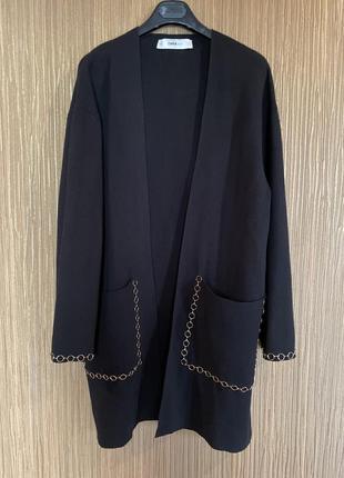 Кардиган накидка zara knit s