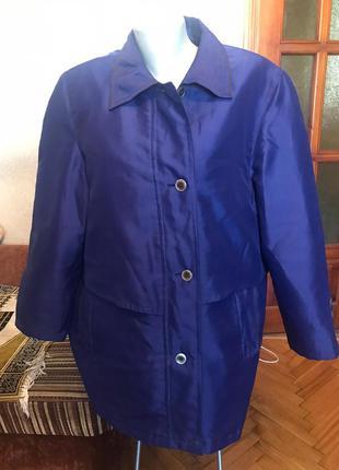 Куртка удлиненная на тонком синтепоне