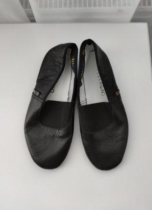Чешки черные кожаные 17.5 см - 28 размер pellagio