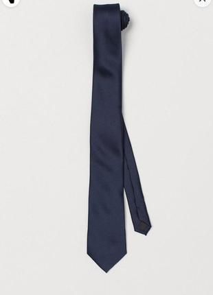Атласный галстук н &м синий