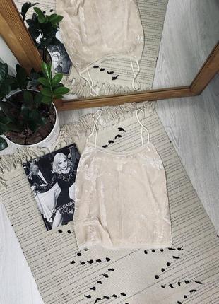 Красива бархатна блуза на бретелях від h&m🌿