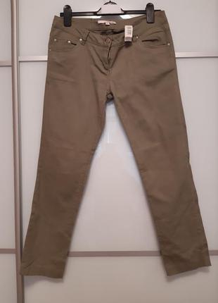 Котоновые штаны хаки