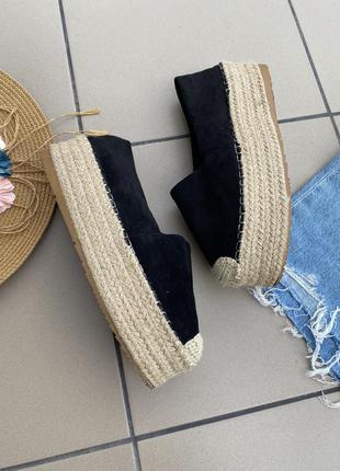 Мокасины еспадрильи на платформе туфли кеды