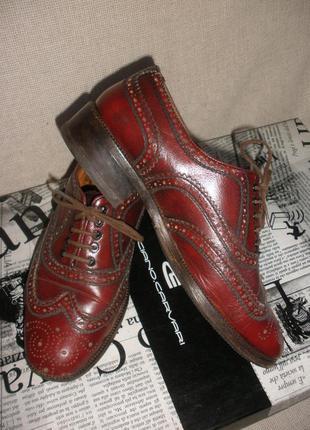 Крепкие ботинки броги оксфорды натуральной кожи clarks демисезон