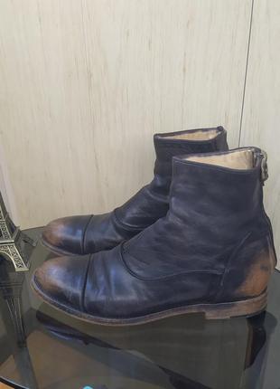 Кожанные деми ботинки alberto fascant