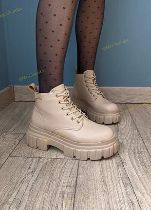 Трендовый бежевый! женские осенние ботинки