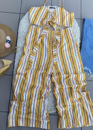 Костюм топ кюлоты штаны брюки свободные блуза блузка
