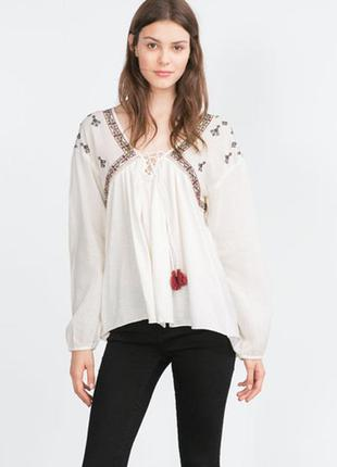 Вишита блузка zara