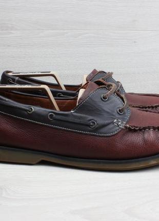 Мужские кожаные мокасины / топ-сайдеры samuel windsor, размер 44.5 - 45