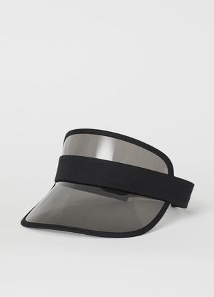 Прозрачный козырек от солнца h&m черный пластиковый