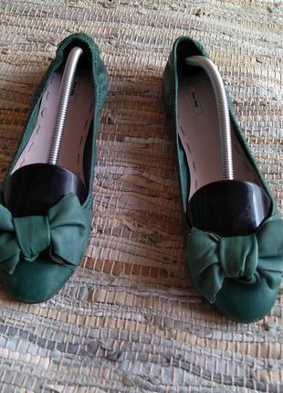 Miu miu оригинал балетки р. 40 зелёные ballet flats calzature donna
