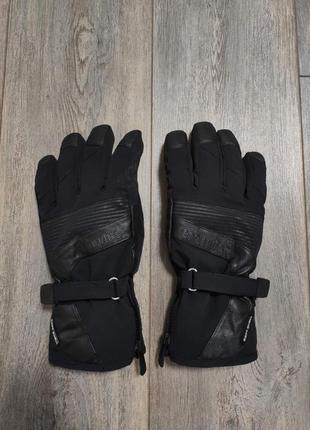 Мужские лыжные зимние трекинговые перчатки snowlife soft shell gore-tex оригинал размер l - xl
