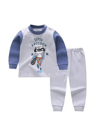 Детская пижама для мальчика с енотом