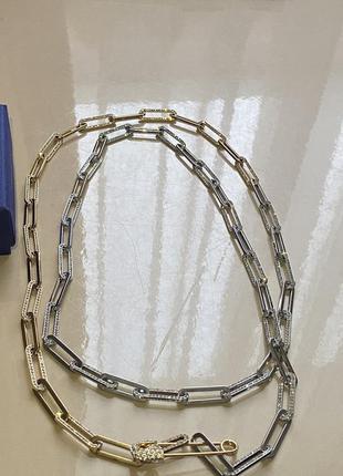 Довга цепочка підвіска ланцюжок swarovski
