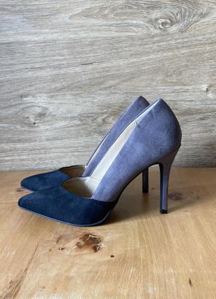 Туфлі-човники двокольорові