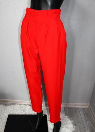 Эффектные фирменные винтаж брюки штаны бананы джоггеры с высокой посадкой even&odd р. xs оригинал
