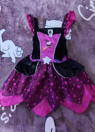 Платье на карнавал на хелоуин на 2-3года