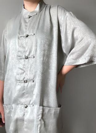 Китайская шелковая рубашка блуза eastern collection халат шелк