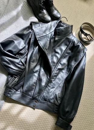Обалденная кожаная куртка косуха. италия🇮🇹