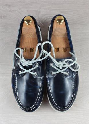 Мужские кожаные мокасины / топ-сайдеры timberland оригинал, размер 41