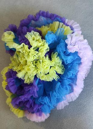 Юбка карнавальная детская фатиновая разноцветная