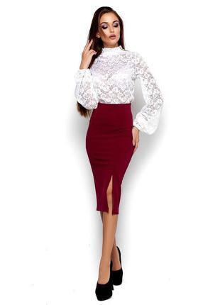 Шикарная  юбка-карандаш с высокой посадкой от karree
