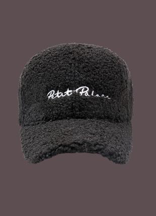 Плюшевая бейсболка кепка мягкая тедди 13156