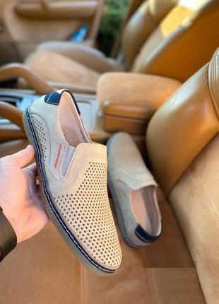 Мужские туфли с перфорацией 40-45