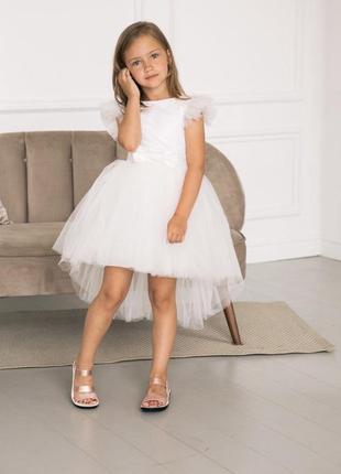 Нежное белое платье для девочки кира