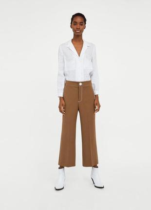 Zara штаны брюки кюлоты