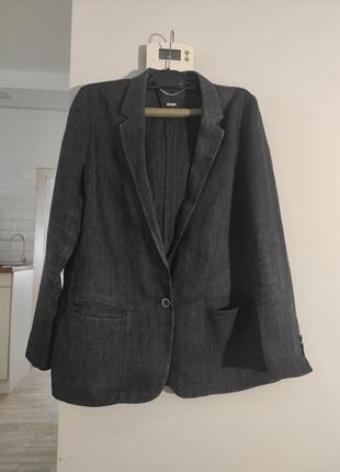 Льняной пиджак жакет