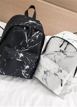 Рюкзак с мраморным принтом