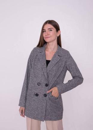 Пиджак твидовый в принт