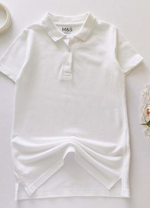 Белое поло для девочки  артикул: 9606