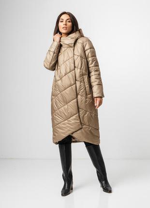 Стильная зимняя куртка, пуховик женский