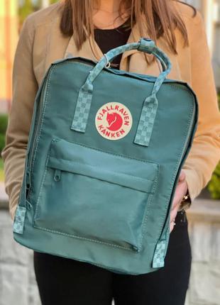 Fjällräven kanken classic green square рюкзак