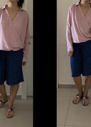Новая стильная блуза из вискозы h&m в полоску