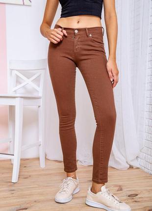 Джинсы женские цвет коричневый