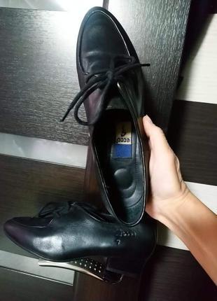 Туфли лоферы  оксфорды дерби баги ботинки женские кожаные