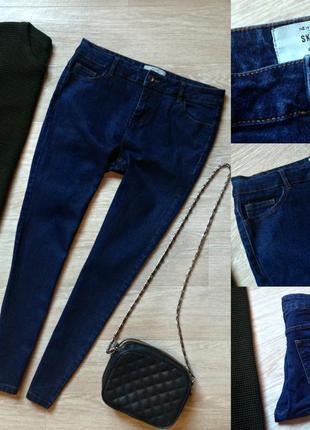 #58 плотные джинсы скинни завышенной посадки new look
