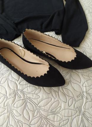 Балетки,туфли под замш