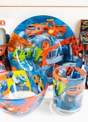 Детский набор посуды подарочный вспыш