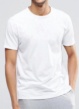 Белая базовая однотонная футболка jhk