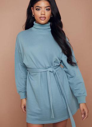 Платье свитшот с горловиной