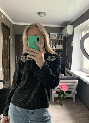 Стильный свитер zara, размер s