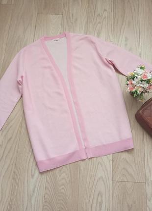 Нежно-розовый свободный кардиган, накидка, р.l-xl