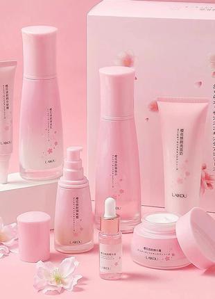 Набор уходовой косметики для лица laikou japan sakura