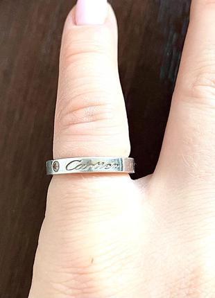 Кольцо на мизинец серебро 16 размер